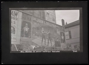 West Newton billboard 1910