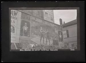 West Newton billboard 1910